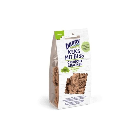 bunnyNature Crunchy Cracker - herbs - Gyógynövényes 50 g