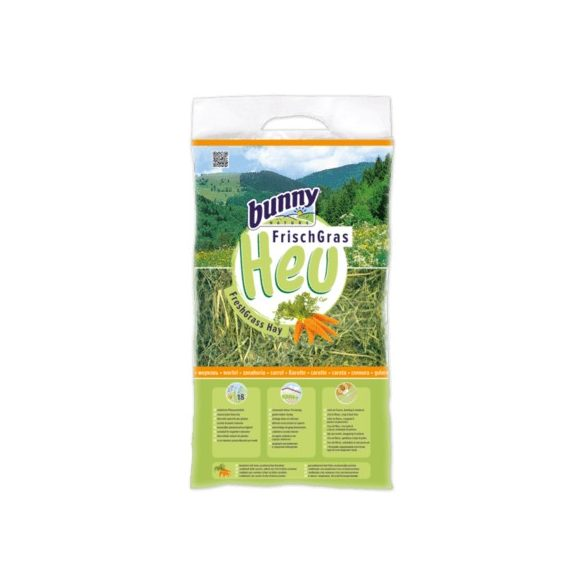 bunnyNature FreshGrass Hay with Carrot Répás 500g