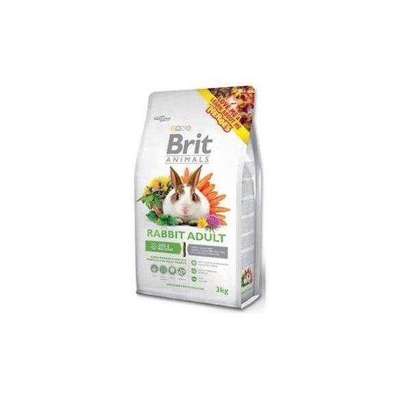 Brit Animals Rabbit Adult Complete - Teljes értékű nyúltáp felnőtt nyulaknak 3kg