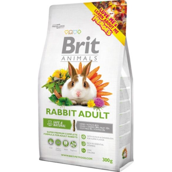 Brit Animals Rabbit Adult Complete - Teljes értékű nyúltáp felnőtt nyulaknak 300g