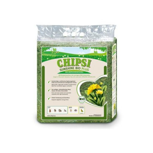 Chipsi Sunshine Bio Plus széna gyermekláncfűves 600 g
