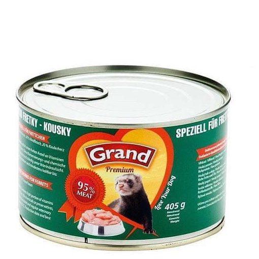 Grand Premium húseledel vadászgörényeknek  95% hústartalom 405g
