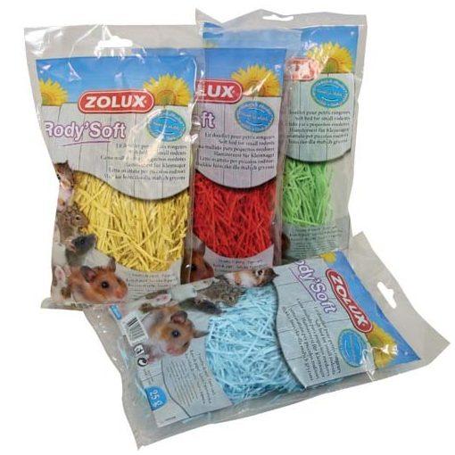 ZOLUX RODY Fészekbetét puha színes papírcsíkokból rágcsálóknak 25g