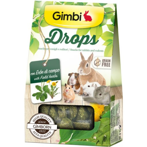 Gimbi Drops - Gabonamentes csemege Mezei gyógynövényekkel 50g