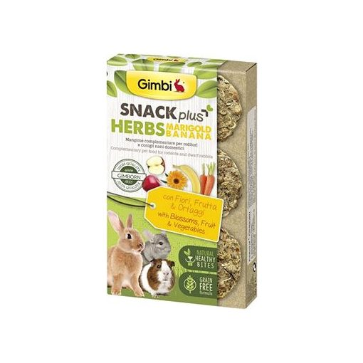 Gimbi SnackPlus Herbs MARIGOLD - Virággal és banánnal 50 g
