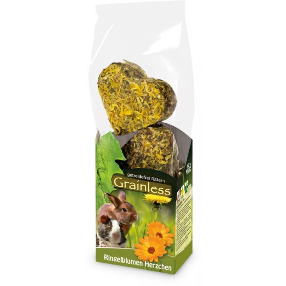 JR Farm Grainless Little hearts - Gabonamentes kis szívek - KÖRÖMVIRÁGGAL 105g