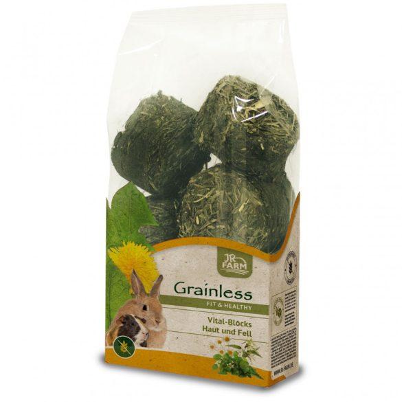 JR Farm Grainless Health Vital-Blocks Skin+Fur BŐR és SZŐRZET 300g