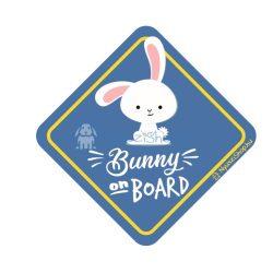 """Autós matrica """"Bunny on the Board"""""""