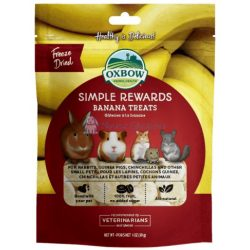 Oxbow Simple Rewards Banana Treats - Szárított banán 30g