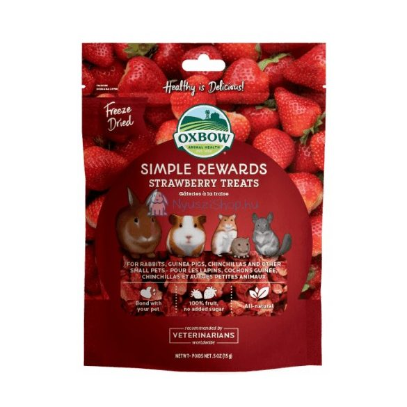 Oxbow Simple Rewards Strawberry Treats - Szárított földieper 15g