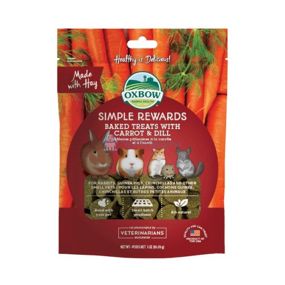 Oxbow Simple Rewards Carrot and Dill - Répás kapros 60g