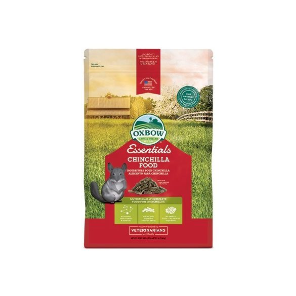 Oxbow Essentials Chincilla - Teljes értékű eledel chinchillák számára 4,5 kg