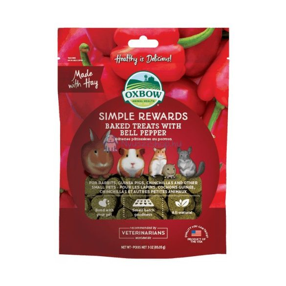 Oxbow Simple Rewards Bell Pepper - Kalifornia paprikás jutalomfalat 85g