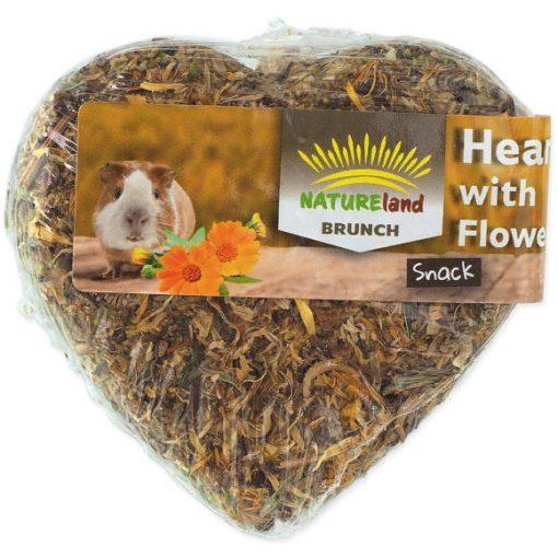 NatureLand BRUNCH szív alakú virágos snack 90g