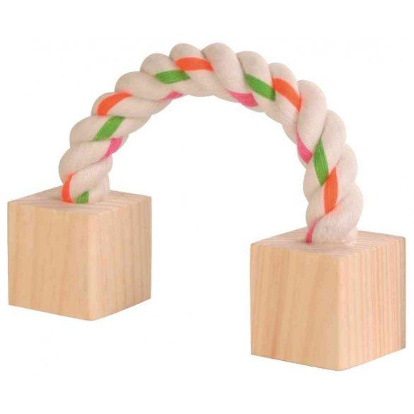 Trixie kötéljáték fakockával 6186 20 cm